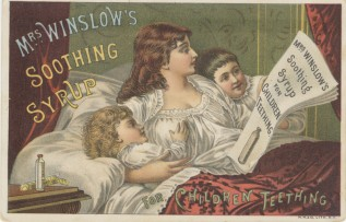 Mrs Winslow's Soothing [Morphine] Syrup, circa 1886. Flickr Commons Public Domain