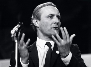 Tony Benn at a Labour Party Conference in Brighton, October 1971. Popperfoto/Getty