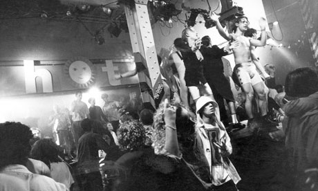 People dancing at the Hacienda in 1988 at acid house night, Hot. Kevin Cummins/Getty Images
