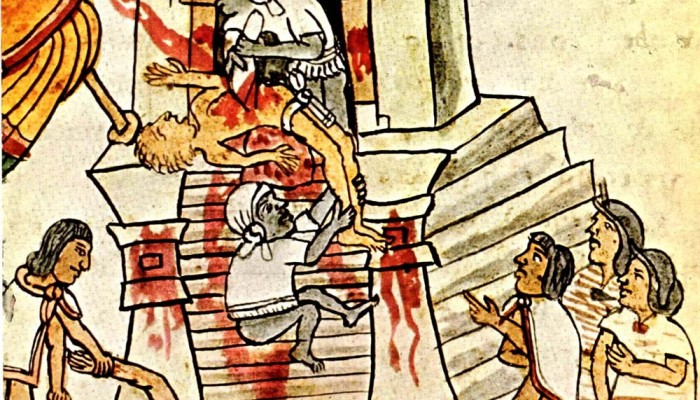 The Mayans Human sacrifice portrayed in the Codex Magliabechian. Wikimedia Commons