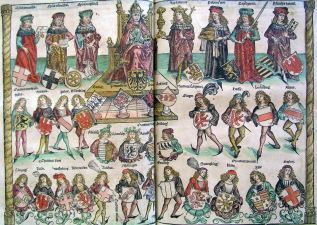 The Holy Roman Empire Nuremberg_chronicles_-_Organizational_Structure_of_the_Empire_of_the_Holy_Roman_Empire_(CLXXXIIIv-CLXXXIIIIr) (wikimedia commons)