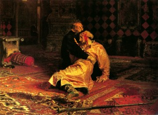mad Kings Ivan IV having killed his sons (wikimedia commons)