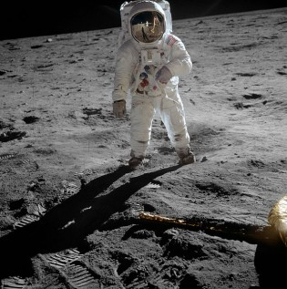 Space Exploration- Buzz Aldrin on the Moon