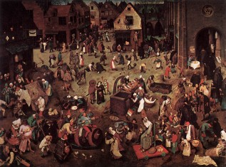 Fasting Pieter Bruegel the Elder The Fight between Carnivala and Lent WGA3373