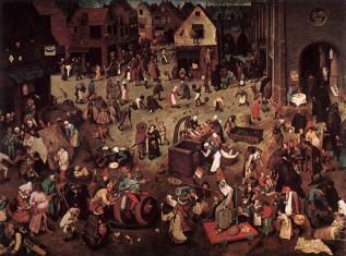 Fasting Pieter Bruegel the Elder The Fight between Carnivala and Lent WGA3373