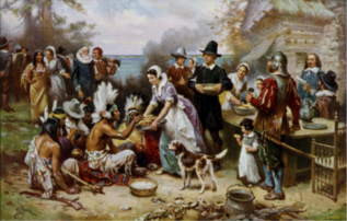 The First Thanksgiving, Wikimedia Commons.